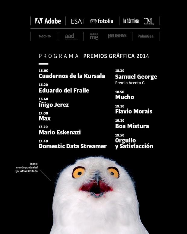 Programa Festival Premios Gràffica