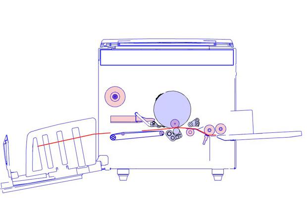Máquina impresora de risografía