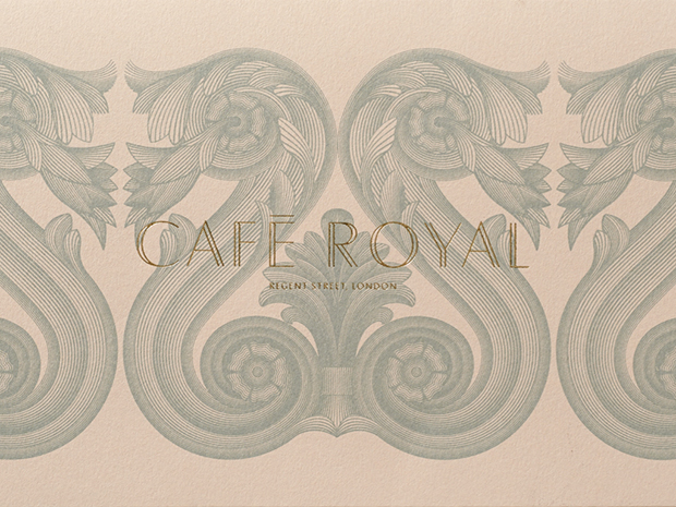 John Rushworth, de Pentagram, redefine la imagen del Café Royal en Londres