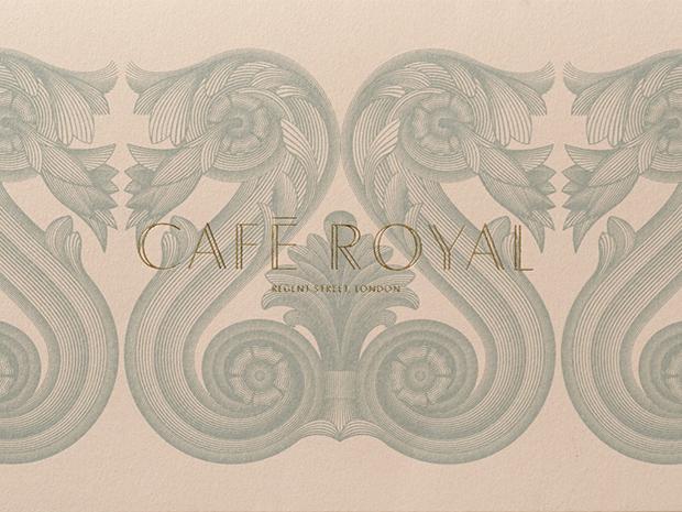 John Rushworth, de Pentagram, redefine la imagen del Café Royal en Londres