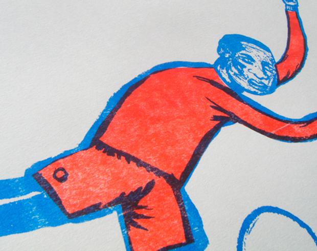 Ilustración impresa con risografía
