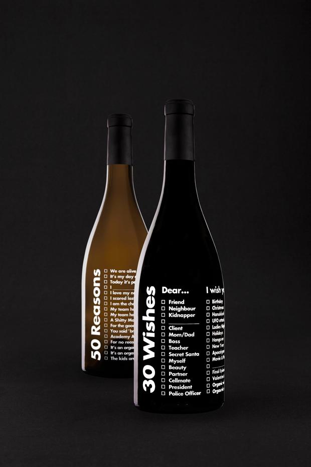 50 Reasons & 30 Wishes. Las primeras etiquetas de vino personalizables