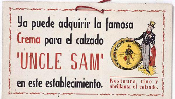Cartel exposición Gráfica publicitaria y relaciones comerciales España / USA. Carteles de 1890 a 1961
