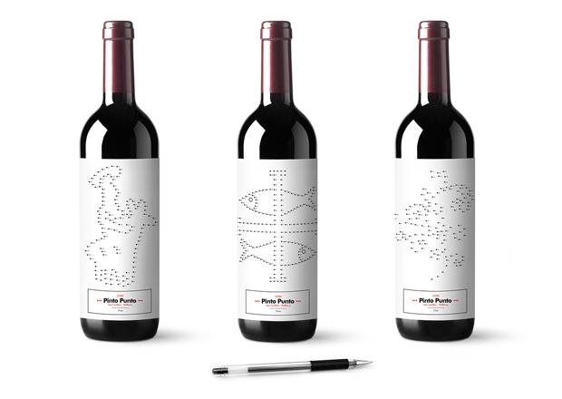 Vino Pinto Punto, etiquetas personalizables concebidas como un juego de Xisco Barceló