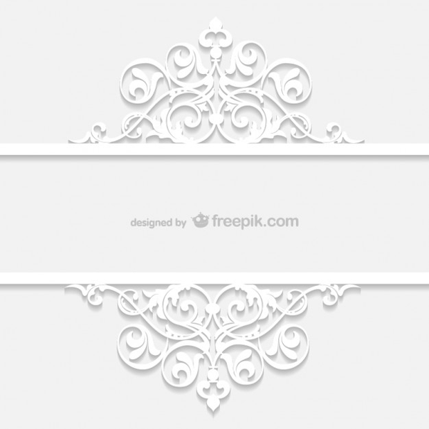 plantilla blanca ornamental retro en vectorial