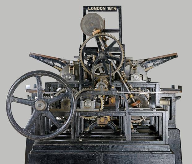 rotativa a vapor creada por Friedrich Koenig y Andreas Bauer