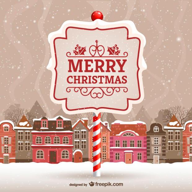 Plantilla de Tarjeta de Navidad en vectorial