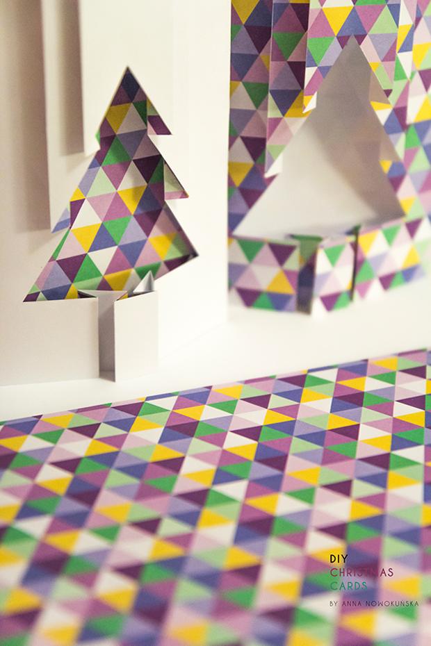 Desde Polonia, la diseñadora Anna Nowokunska nos propone un Do It Yourself y nos da la plantilla para realizar y personalizar nuestra felicitación navideña.