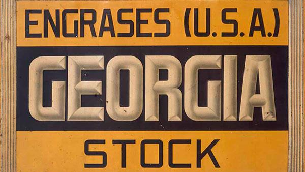 Cartel exposición Gráfica publicitaria y relaciones comerciales España / USA. Carteles vintage de 1890 a 1961