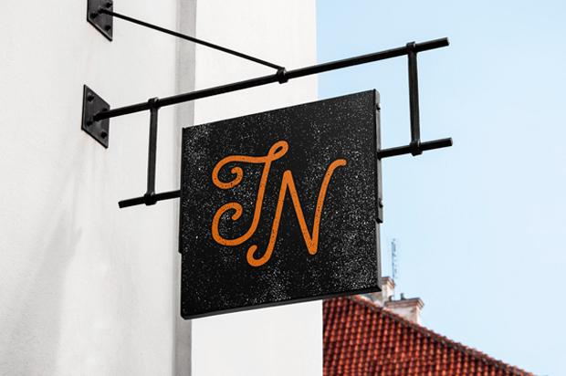 0 MockUp de rótulos vintage y señales identificadoras de establecimientos retro