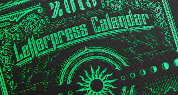 Calendario 2015 impreso tradicionalmente en una Heidelberg