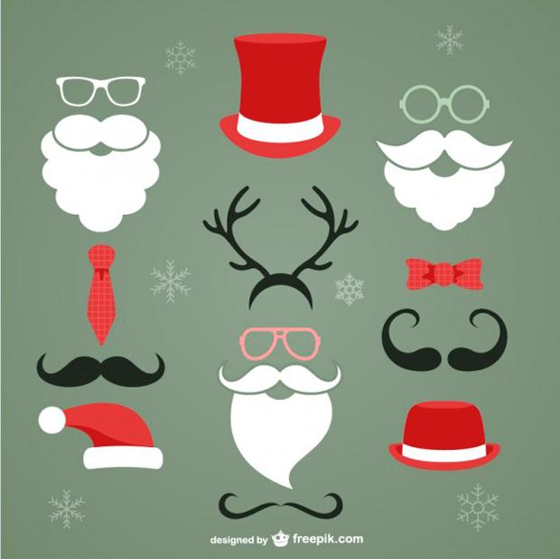 recursos gráficos gratuitos con motivos navideños estilo hipster