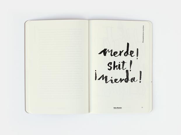 Pensamientos escritos es un conjunto de dos cuadernos de diseño
