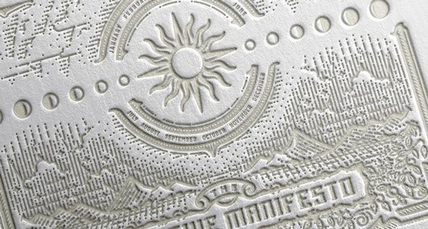 Calendario 2015 artesanal impreso en una Heidelberg