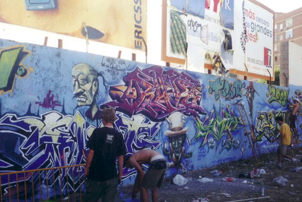 Escenas del graffiti en Granada