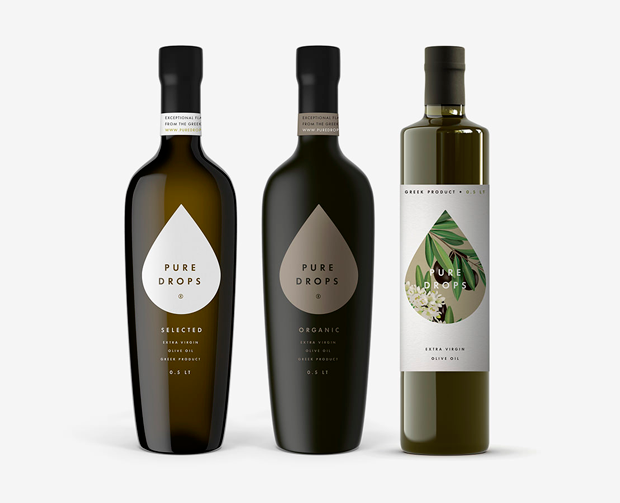 Pure Drops, branding design Bob Studio