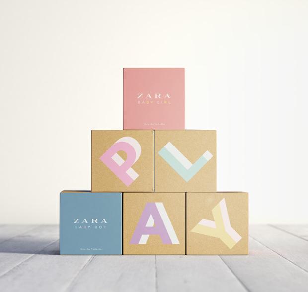 ZARA Play colonias infantiles con packaging vintage de Lavernia & Cienfuegos