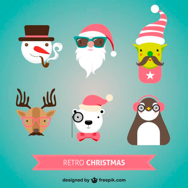 recursos gratuitos en vectorial con motivos navideños
