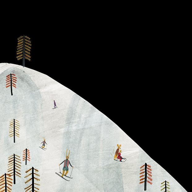 Cerramos esta serie navideña con Maria Dek, que desde Polonia nos ofrece estas ilustraciones en la nieve.