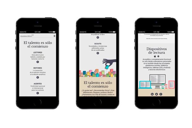 Manuscritics - diseño dispositivos móviles por Erretres