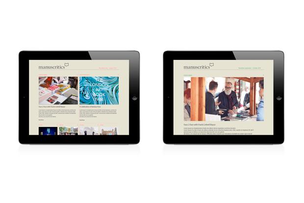 Manuscritics – diseño iPad por Erretres