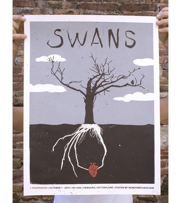 cartel de concierto de Swans