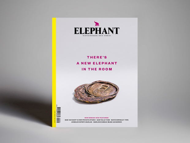 Elephant magazine número 20 diseñado por Astrid Stavro y pablo Martín de Atlas