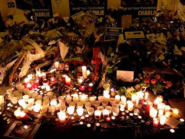 Una imagen gráfica para Charlie Hebdo! Convocatoria mundial de la AFD