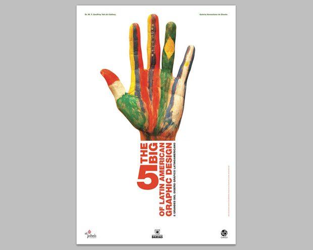 Cartel de Juan Carlos Darias, histórico del diseño en Venezuela y coordinador de la Bienal Letras Latinas