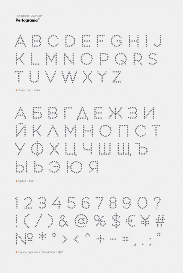 Perfograma tipografía gratuita de Asen Petrov