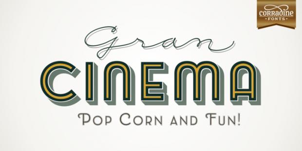 Emblema Headline, familia tipográfica con aires Art Déco de la fundición Corradine Fonts