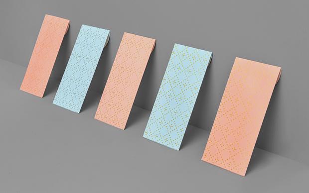 Patrones y formas simétricas diseño de la agencia Anagrama