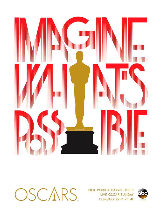 cartel de los Oscar diseño de Alex Trochut