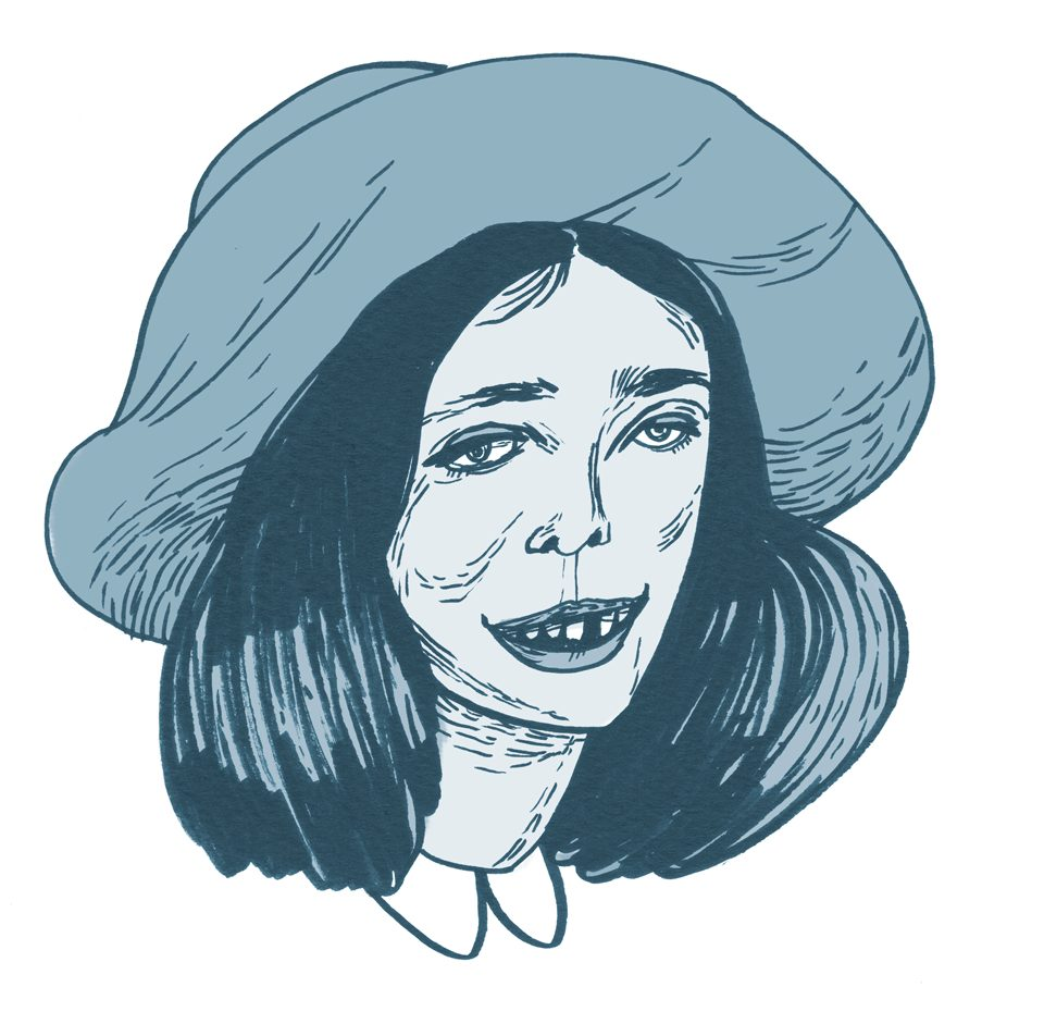 autorretrato de la ilustradora María Herreros