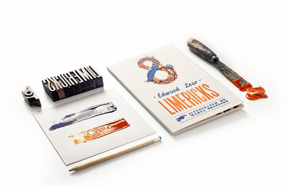 Textos raros bellamente ilustrados en letterpress por Marta Monteiro