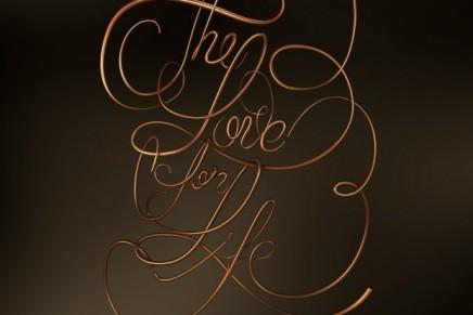 Love for Life, un lettering de Ana Gómez Bernaus premiado en el TDC