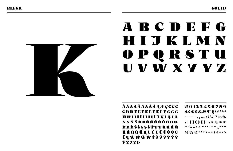 Blesk, tipografía vintage que juega con el contraste cromático