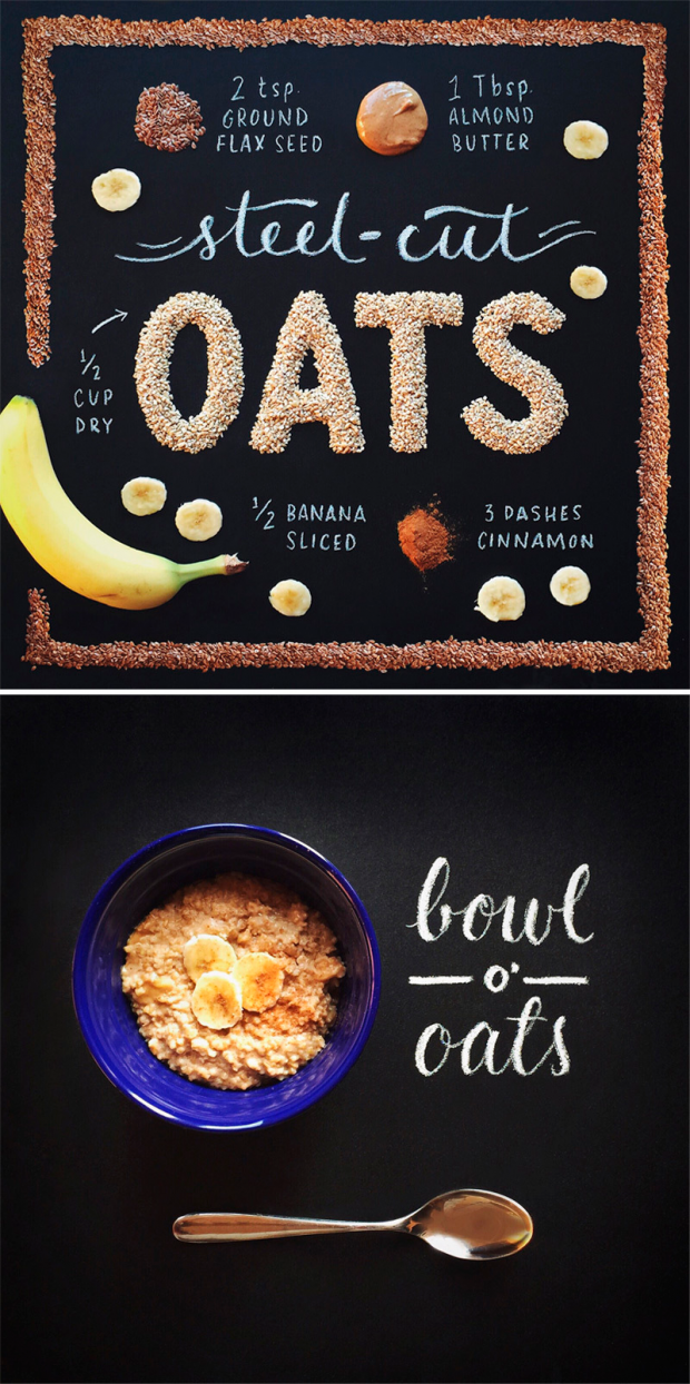 food & lettering