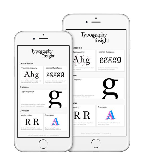 Typography Insight versión 3.0, app para tipópatas