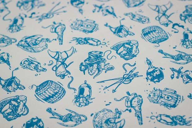 ilustraciones Ahab, camisetas serigrafiadas