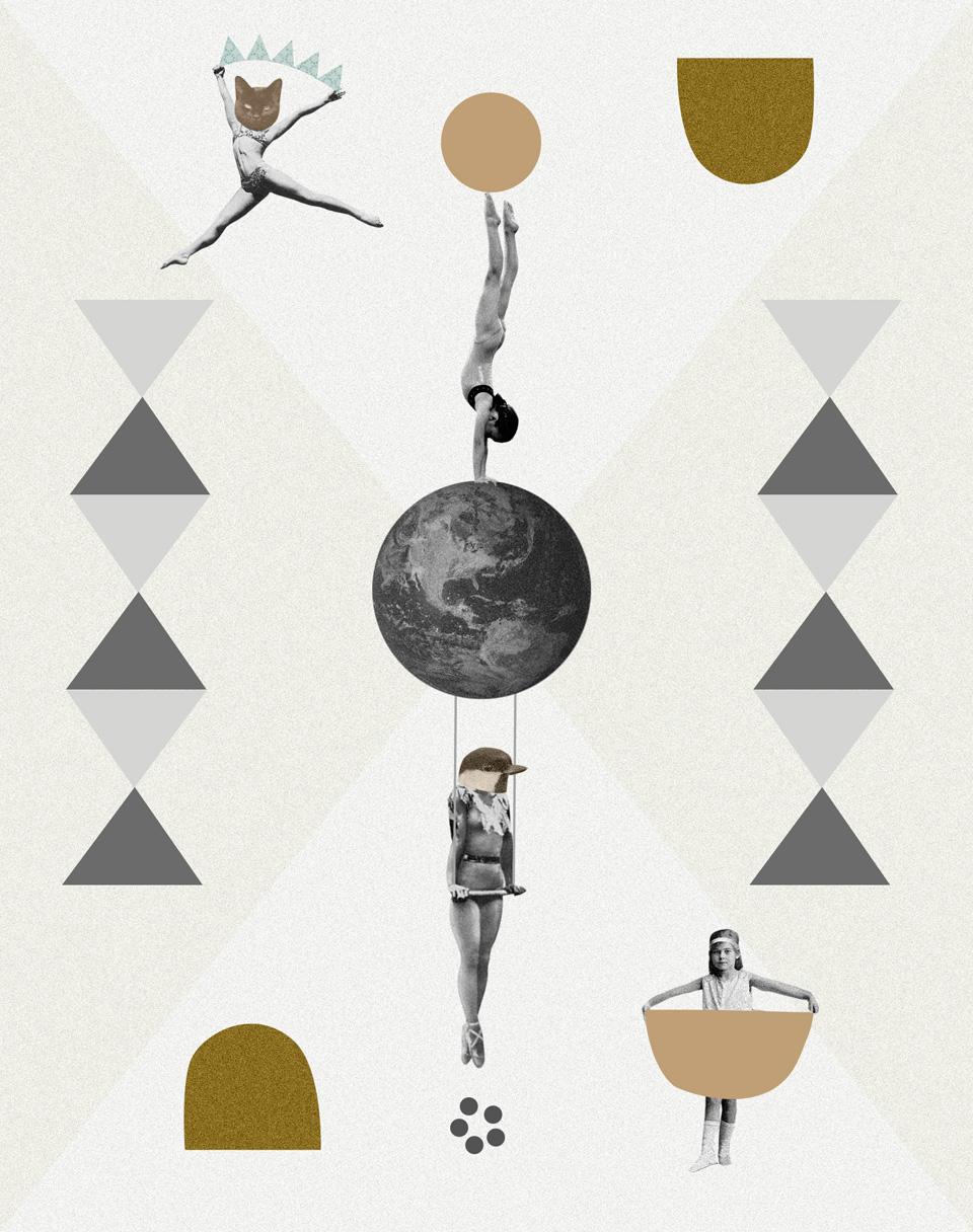 Los collages del subconsciente de Helena Pallarés, ilustración El gran circo mundial