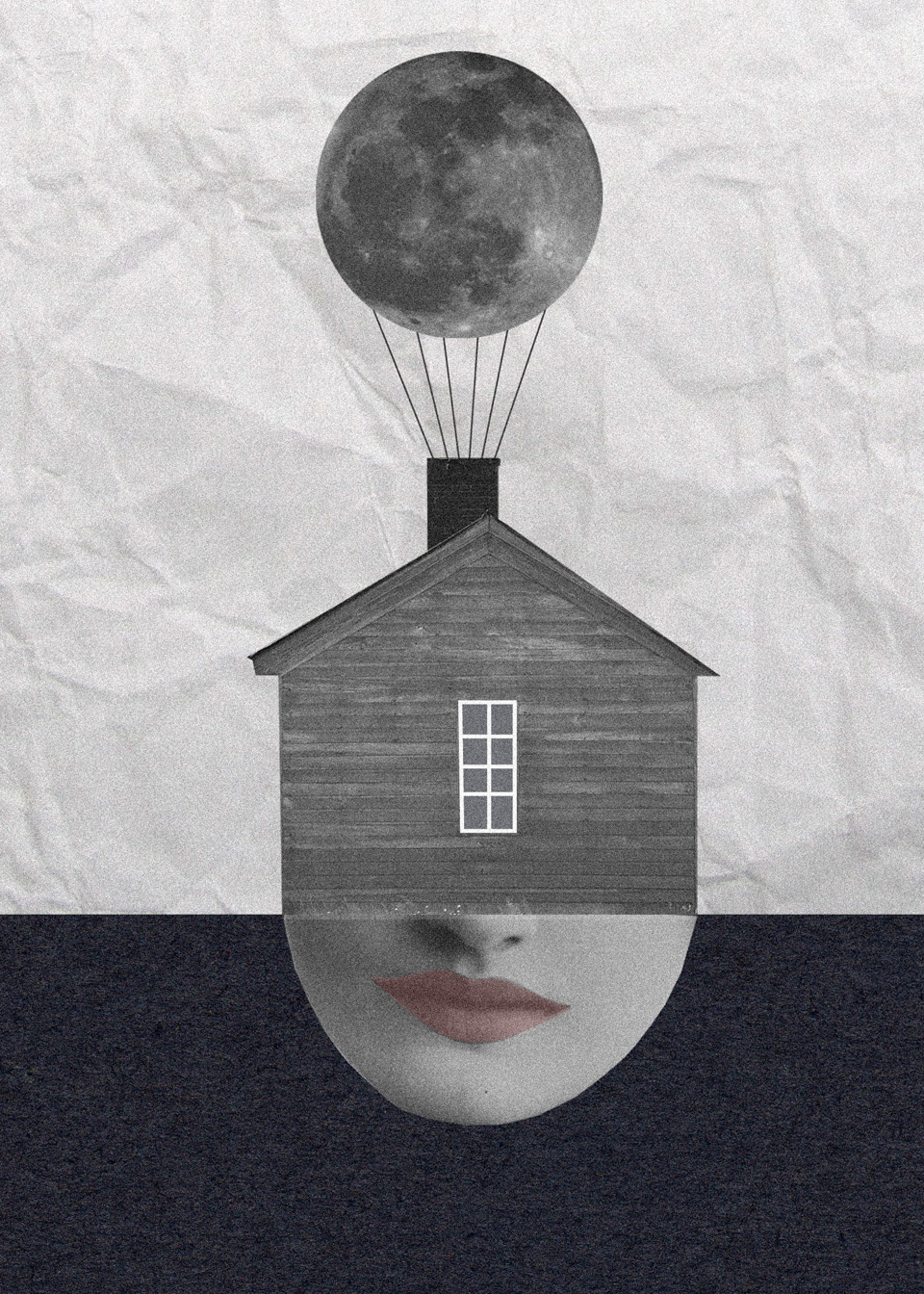 Los collages del subconsciente de Helena Pallarés, ilustración Electric Moon.