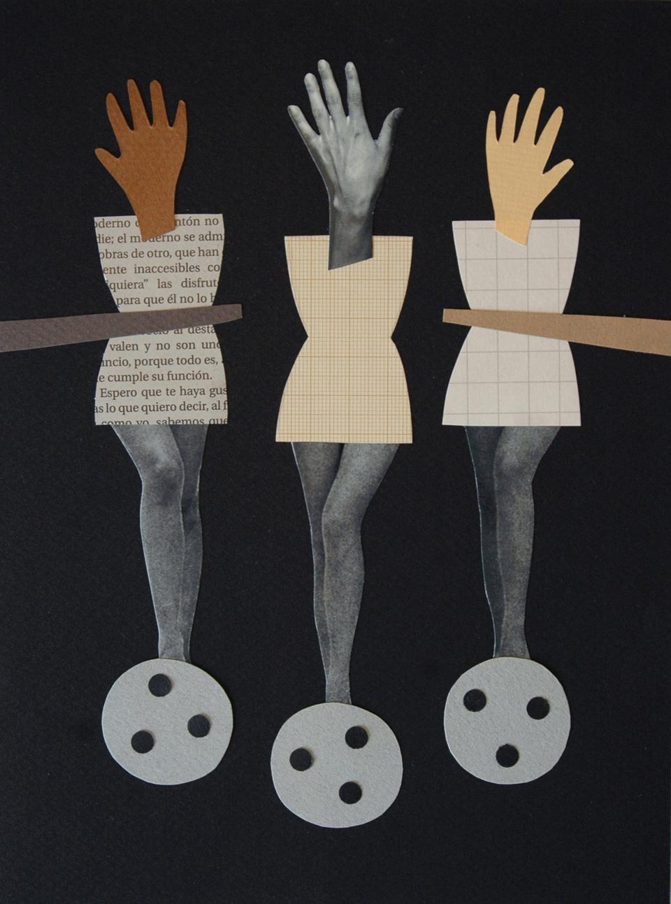 Los collages del subconsciente de Helena Pallarés, ilustración Tres coma catorce.