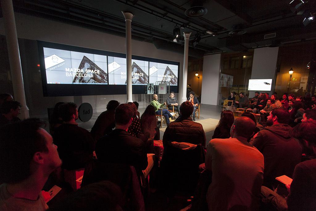 Hervé Matine en el Mazda Space  en el marco de la jornada Diseño, protesta y reivindicación