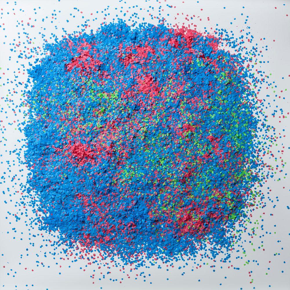 Jaime Serra, pieza 'Salud, dinero y amor', entre el arte y la infografía