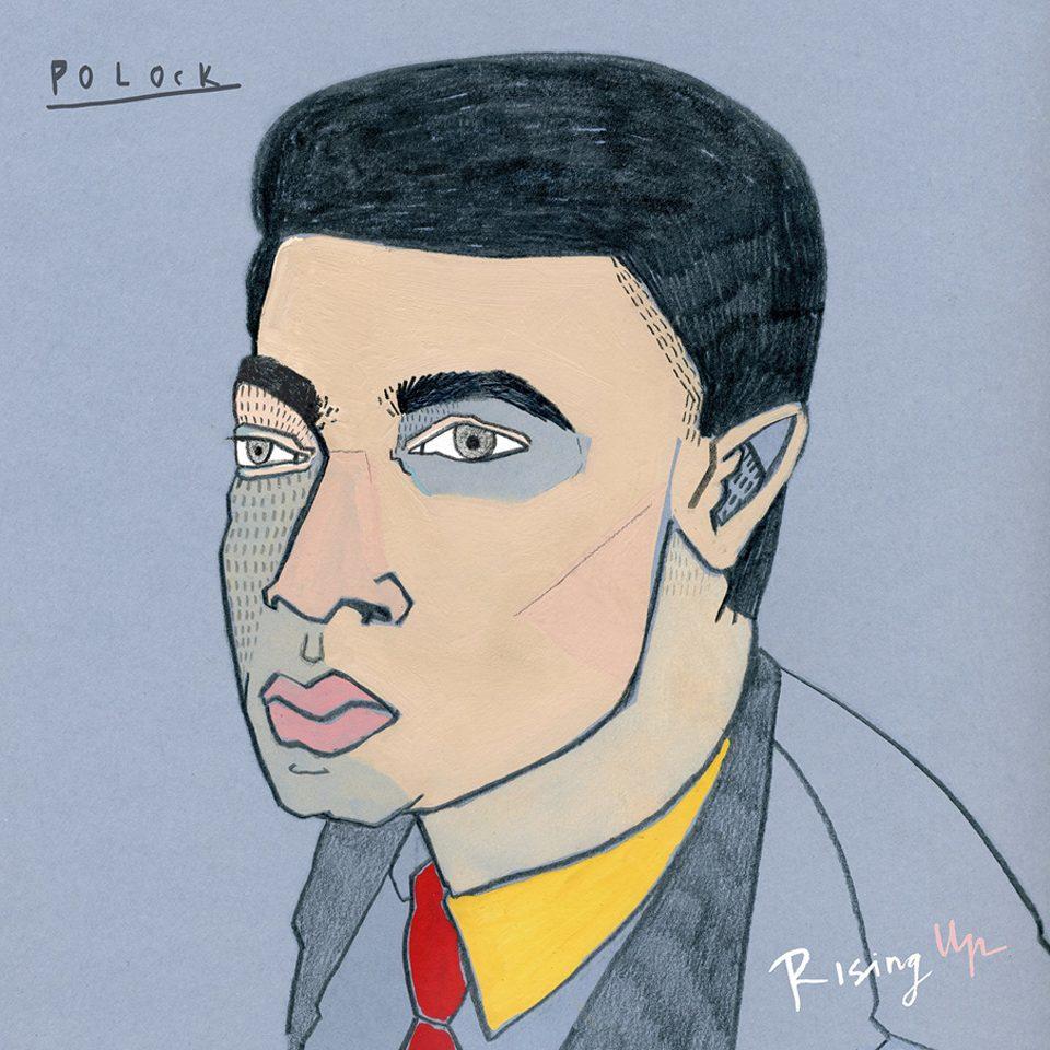 Portada del álbum Rising Up, de Polock. Ilustraciones de LittleIsDrawing