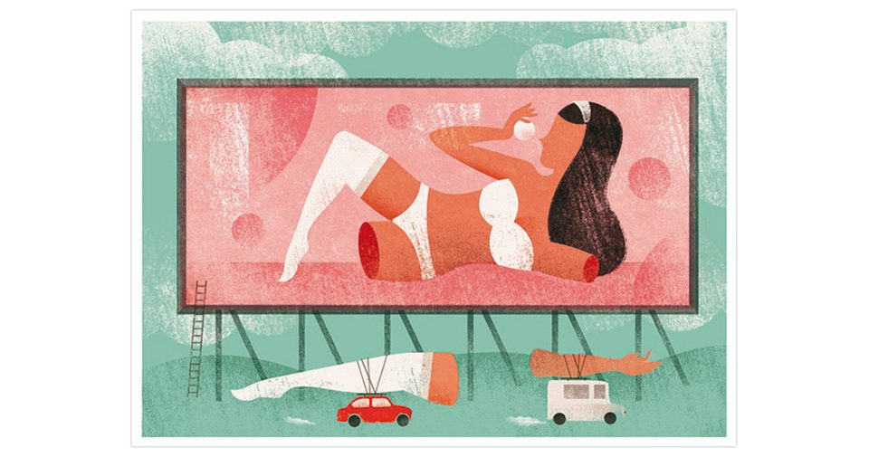 Luis Demano, Illustration for International Women's Day. Againts sexism in advertising.
