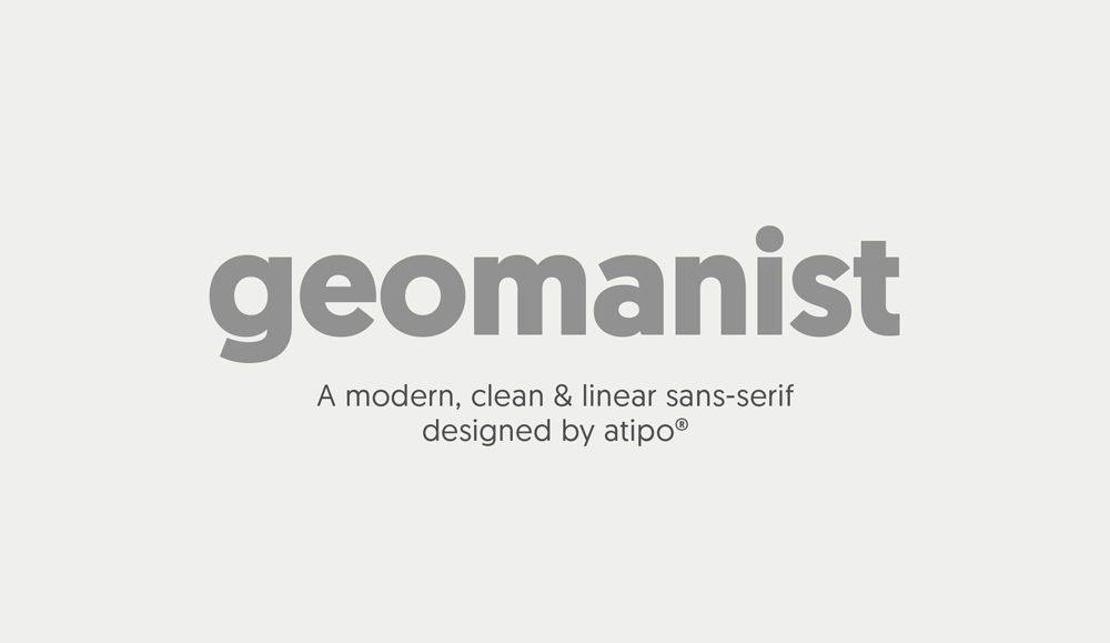 Geomanist, una 'sans' contemporánea, de aspecto limpio y elegante de Atipo