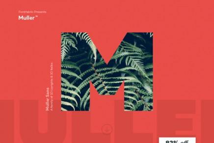 Muller Sans, una tipografía versátil y contemporánea