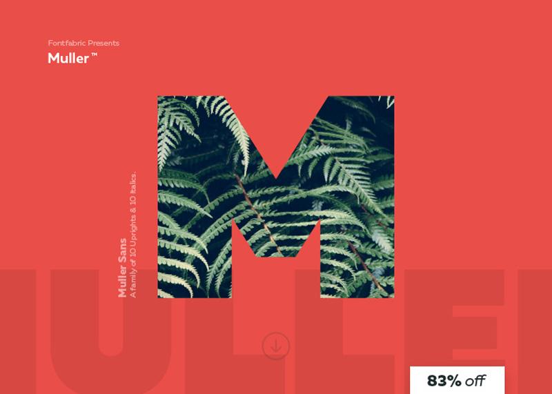Muller Sans, tipografía